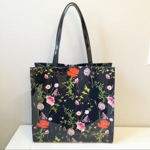Ted Baker PVC Icon Shopper Tote - Navy Floral
